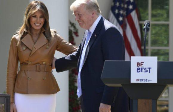Melania Trump breaks fashion rules wears white pumps before Memorial Day