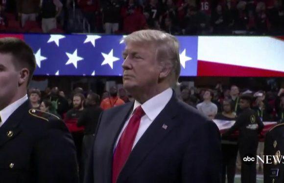 Watch Trump bungle his way through the lyrics to 'God Bless America